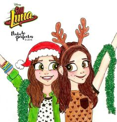 Carolina y Karol en Navidad