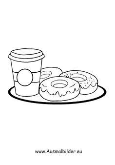 Ausmalbilder Donuts