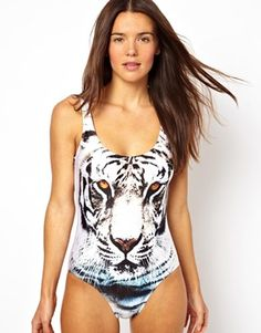 Amazing swimsuit..tad pricey though!! (We Are Handsome Tiger Print Scoop Swimsuit)