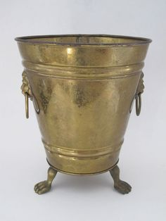 Vintage Antique Brass Champagne Ice Bucket Made in England Champagne Ice Bucket, Champagne Buckets, Antique Brass, Vintage Antiques, Planter Pots, England, How To Make, Ebay, United Kingdom