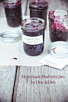 Homemade Blueberry Jam from @Kristen @DineandDish