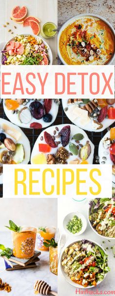 Detox Recipes Cleanse Body Lose Weight toxins weight loss smoothie drink salad meal lunch breakfast detox snacks healthy immune