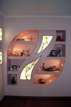 End of the pasage Pop Ceiling Design, Bedroom False Ceiling Design, Tv Wall Design, Wall Shelves Design, Living Room Partition Design, Room Partition Designs, Interior Design Living Room, Living Room Designs, Living Room Decor