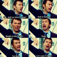 Doctor Who in a nutshell. David Tennant. 10th doctor. Doctor Who. The facial expressions of this kills me.
