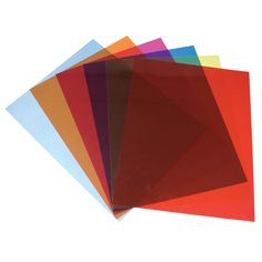 Tinted Plastic Reading Sheets, Set of 5 - click to view larger image