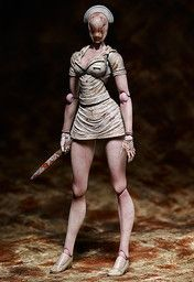 From the widely acclaimed survival horror game Silent Hill 2 comes this detailed, highly articulated Figma portrayal of the ever terrifying Bubble Head Nurse. Only Figma can bring Bubble Head Nurse to