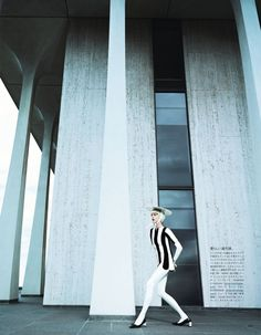 a graphic study: aymeline valade by emma summerton for vogue japan february 2013