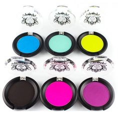 Sugarpill super bold eyeshadows