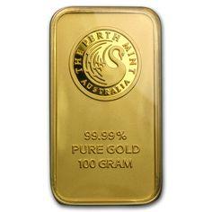 100 gram Gold Bar - Perth Mint (In Assay)   goldankauf-haeger.de