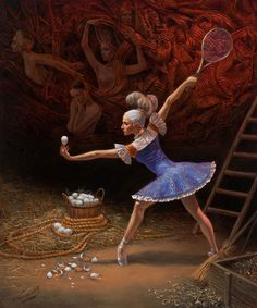 Michael Cheval | Morphology of the Collider (with eggs)  http://chevalfineart.com/gallery/eternity/