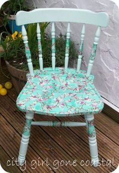Beautiful Ways to Refinish Wooden Furniture -  Decoupage napkin chair