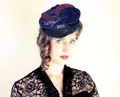 plum and purple vintage hat
