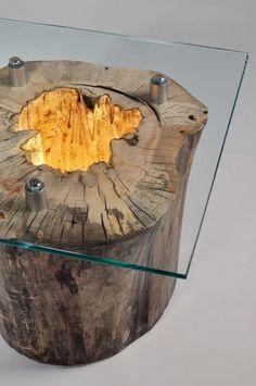 Tree Trunk - Table Lamps, Wood Lamp - iD Lights   iD Lights