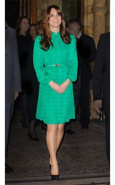 Catherine, Duchess of Cambridge  WHAT:    Mulberry dress  WHERE:    The Natural History Museum's Treasures Gallery opening, London  WHEN:    November 27, 2012