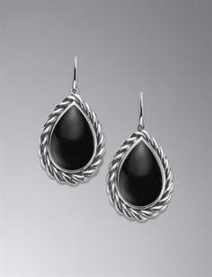 Color Classics Earrings, Black Onyx