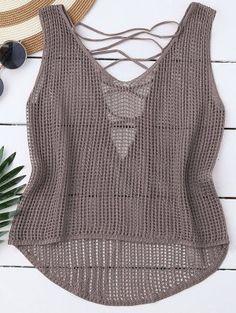 Fabulous Crochet a Little Black Crochet Dress Ideas. Georgeous Crochet a Little Black Crochet Dress Ideas. T-shirt Au Crochet, Crochet Shirt, Crochet Cardigan, Crochet Style, Crochet Cross, Diy Mode, Collar Pattern, Lace Tank, Crochet Fashion