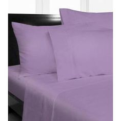 Authentic Scala Brand Sheet Set 600 Thread Count Full 100 Organic Cotton Lavender Solid by Scala Home Silk Sheets, Percale Sheets, Bed Sheets, The Big Sleep, Queen Beds, Sheet Sets, Bedding Sets, Organic Cotton, Pillow Cases