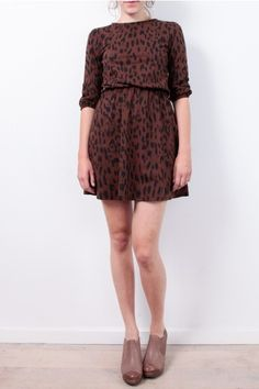 People Tree Dress: http://www.todayisagoodday.be/vrouwen/people-tree-claudia-animal-print-brown.html