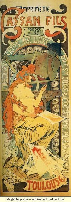 Alphonse Mucha. Cassan Fils. Olga's Gallery.