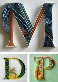 """""""Paper + Typography"""" by sabeena karnik, caligrapher, illustrator and typographer specializing in paper sculpturing and acrylic murals. See more on the Behance project page."""