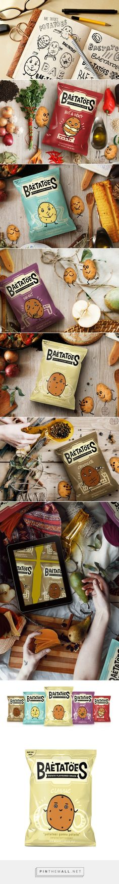 Baetatoes — The Dieline - Branding & Packaging Design. Chip Packaging, Packaging Snack, Food Packaging Design, Packaging Design Inspiration, Brand Packaging, Branding Design, Coffee Packaging, Bottle Packaging, Packaging Ideas