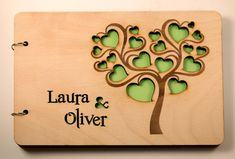 Custom Wedding Guest Book Personalized Present Bride by ecoandfun