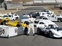 Jim Hall and his Chaparrals at 2005 Monterey Historic