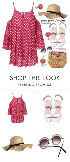 """""""show some shoulder"""" by paculi ❤ liked on Polyvore"""