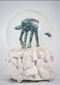 Star Wars AT-AT snow globe with Snow Speeder
