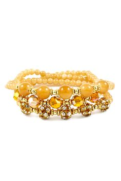 Adalyn Bracelet in Gold Honey