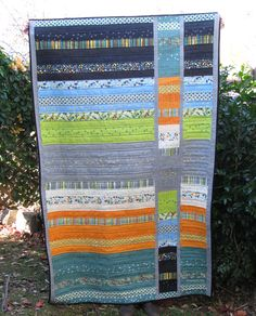 Barcelona Jelly Roll - Strip and Flip Quilt ~ Threading My Way. Based ib Cluck Cluck Sew Tutorial