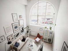 ellopiageenos Living Room Designs, Living Room Decor, Parfait, Scandinavian Loft, Interior And Exterior, Interior Design, Duplex, Arched Windows, Layout