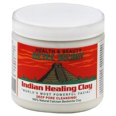 Aztec Secret Indian Healing Clay Deep Pore Cleansing - apparently this is THE STUFF to use for unclogging pores, clearing up whiteheads & blackheads, minimizing pores, etc.