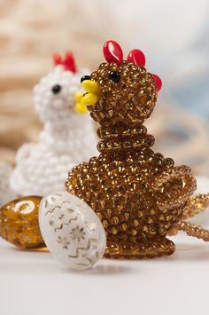 beaded chicken