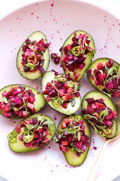 Strawberry Beet Salsa Stuffed Avocados | Love Beets
