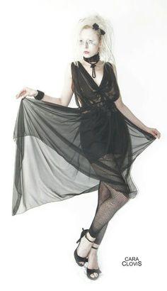 Chiffon black tunica and dress