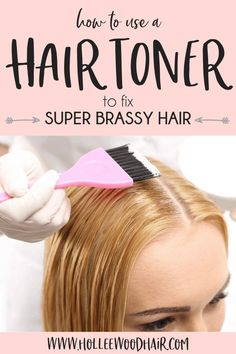 Did your DIY hair color turn out bad? Do you have super orange hair now? Find out how to get the perfect blonde hair color by using a DIY hair toner! Learn how to use a hair toner for brassiness at home and your hair will look 10X better! #HairToner #