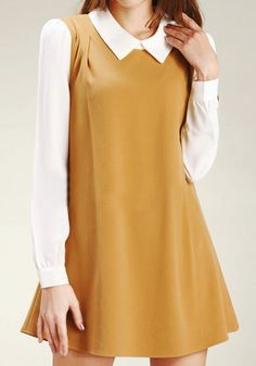 Color Block Cambric Dress - Ginger