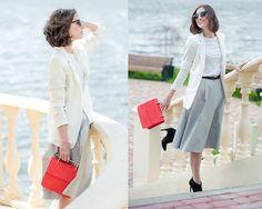 H&M Blazer, Reserved Leather Midi Skirt, Zara Heeled Boots, Michael Kors Silver Watch http://www.yourseureka.ru/