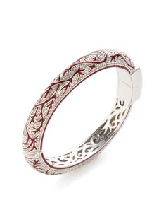 Autumn Ivy Red Glitter Enamel Bangle by M.C.L. By Matthew Campbell Laurenza at Gilt