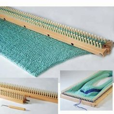 """Amazon.com: KB 28"""" Knitting Board + Peg Extenders + Hook and Instructions: Arts, Crafts & Sewing"""