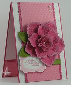 Corporated: Freshly Made Sketches Delightful Melon Stampin' Up! Scrapbooking, Scrapbook Cards, Kirigami, Handmade Greetings, Greeting Cards Handmade, Flower Cards, Paper Flowers, Fabric Flowers, 3d Rose