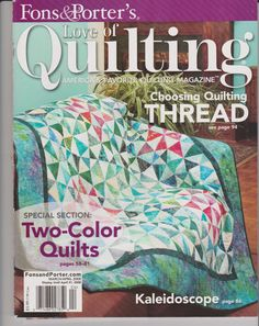 Quilting, Instruction Magazine, Quilt Patterns by Fons and Porter by CraftStuffDepot