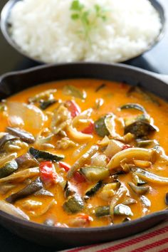 Roasted Veggie Thai Curry by gi365: Easy and healthy. #Curry #Veggie #Healthy #Easy