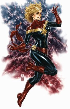 Captain Marvel by Mark Brooks; I've liked Captain Marvel way back to when it was a guy in a Green and White costume. Marvel Comic Character, Comic Book Characters, Comic Book Heroes, Marvel Characters, Female Characters, Comic Books, Ms Marvel Captain Marvel, Miss Marvel, Captain Marvel Carol Danvers