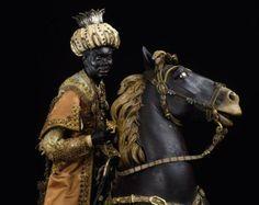Re moro a cavallo, statuina di presepe napoletano realizzata da ...