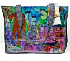 Andre Guichard Icon Art Canvas Tote Bag 360 Degrees Canvas New