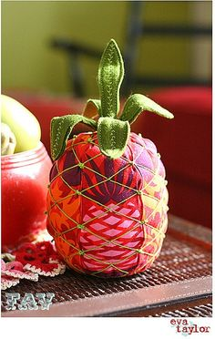 Patchwork Pineapple Pincushion - say that 3 times fast!