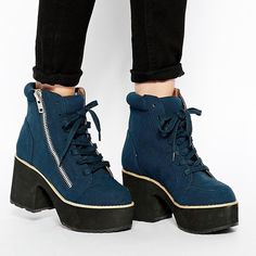 """Blue Suede Ankle Boots w/ Faux Side Zipper Worn, 2-3 times. Very good condition, only a few very minor marks. Will provide more pics upon request. Manmade materials. Heel height 4"""". ASOS Shoes Ankle Boots & Booties"""