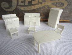 Vintage 1950s 1960s Superior Dollhouse Furniture White Kitchen by corrnucopia on Etsy
